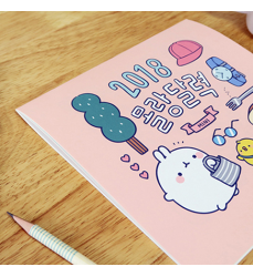cute-2018-Calendario-da-Muro- stile-kawaii–Molang