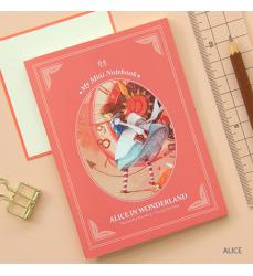 Alice in Wonderland pink notebook-korean stationery