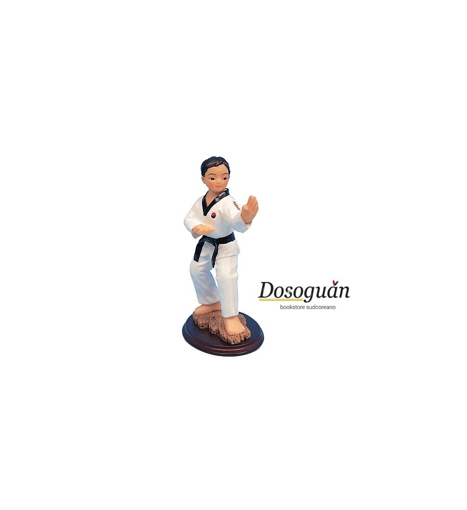 taekwondo-figurine-gadget-di-arti-marziali-action-figurines-posizione-lotta-cintura-nera